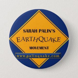 Sarah Palins jordskalvrörelse knäppas Mellanstor Knapp Rund 7.6 Cm