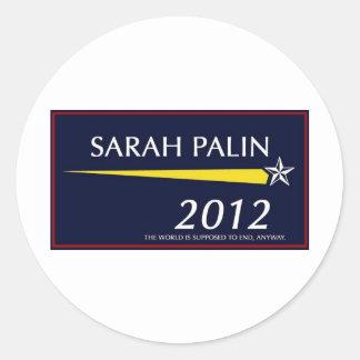 Sarah roliga Palin 2012 Runt Klistermärke