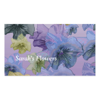 Sarahs blommor visitkort