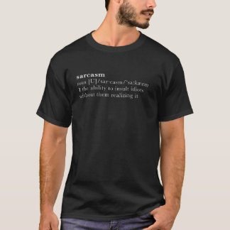 sarcasm - ordbokdefinition tshirts