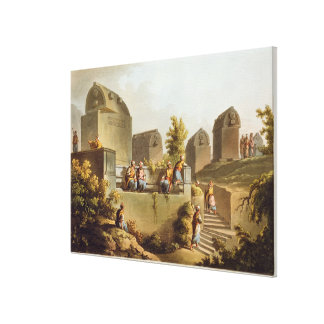 Sarcophagi och Sepulchres på huvudet av Harboen Canvastryck