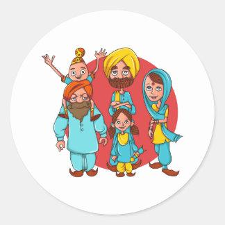 Sardar Ji och familj! Runt Klistermärke