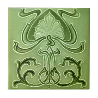 Särdrag för art nouveauvintagedesignen belägger kakelplatta