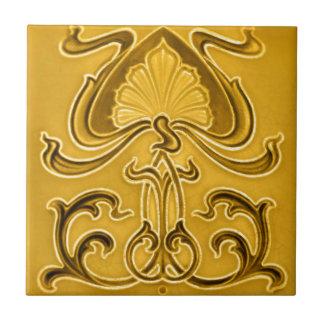 Särdrag för art nouveauvintagedesignen belägger liten kakelplatta