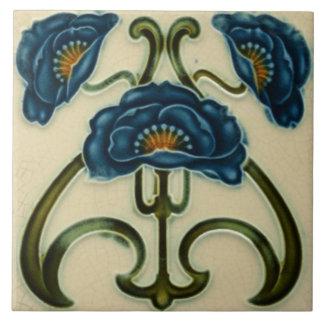 Särdrag för art nouveauvintagedesignen belägger stor kakelplatta
