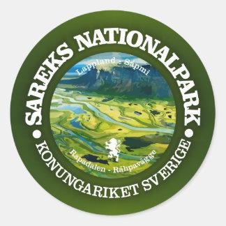Sareks Nationalpark Runt Klistermärke