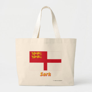 Sark flagga med namn jumbo tygkasse