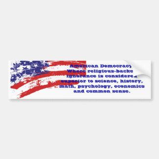 Sarkastisk bildekal för amerikandemokrati