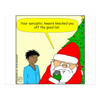 sarkastisk tecknad för tweets x75 vykort