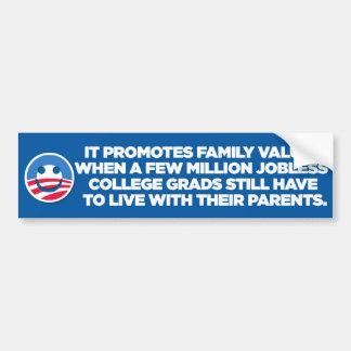 Sarkastiska Anti-Obama - familj - bildekal