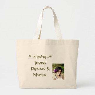 *~sasha~*kärlekar dans & musik jumbo tygkasse