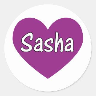 Sasha Runt Klistermärke