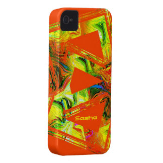 Sashas iphone orange och gult fodral för 4 iPhone 4 Case-Mate cases