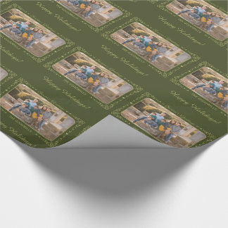 Säsong beställnings- foto för hälsningar som slår presentpapper