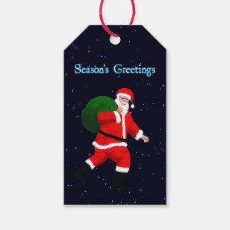Säsong hälsningar - jultomten presentetikett
