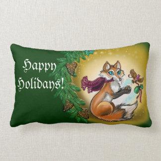Säsong räven för gåvan för den Greetings~ helgdag Lumbarkudde