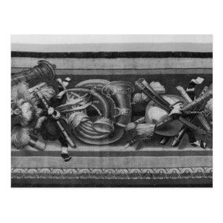 Säsong tapestry, gränsen, musik instrumenterar vykort