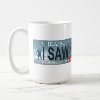 Sasquatch registreringsskylt kaffemugg