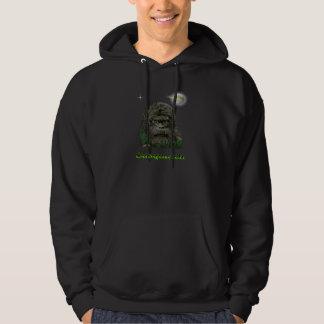 Sasquatch t-skjortor sweatshirt med luva