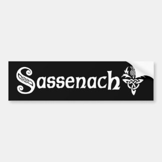 Sassenach - Celtic Thistle Bildekal