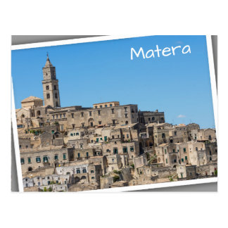 Sassi diMatera stad i italien Vykort