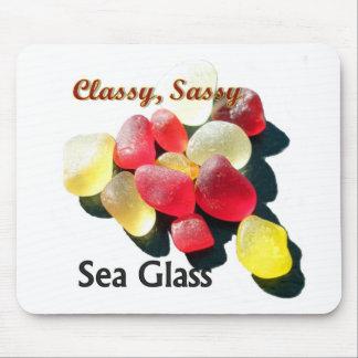 Sassy flott gult havsexponeringsglas - som är rött musmatta