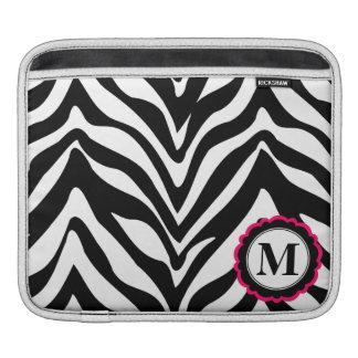 Sassy och chic zebra ränderMonogram Sleeve För iPads