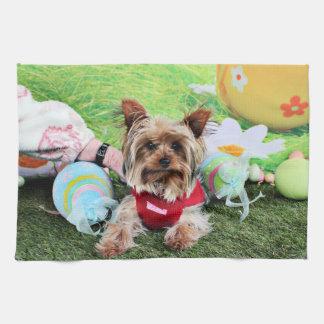 Sassy påsk - Yorkshire Terrier - Kökshandduk