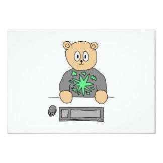 Sat på datortangentbordet 8,9 x 12,7 cm inbjudningskort