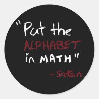 Satan Math Runt Klistermärke
