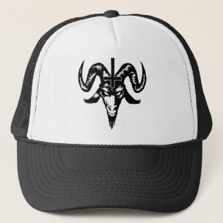 Satanic gethuvud med kor (svarten) keps