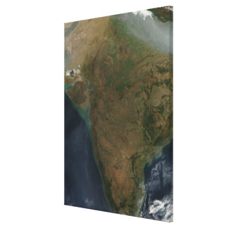 Satellit- beskåda av centralen Indien Canvastryck