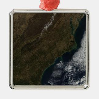 Satellit- beskåda av det sydöstliga enigt påstår julgransprydnad metall