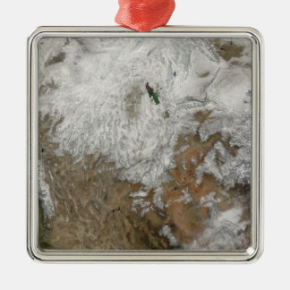 Satellit- beskåda av det westerna Unitedet States Julgransprydnad Metall