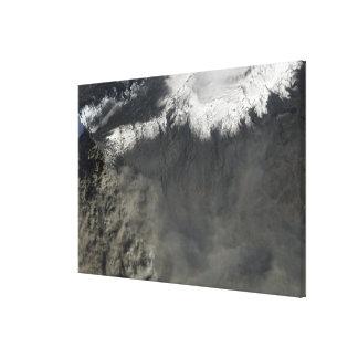 Satellit- beskåda av en aska putsar 2 canvastryck