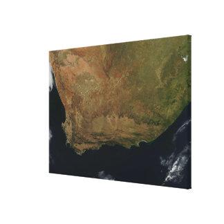 Satellit- beskåda av Sydafrika Canvastryck