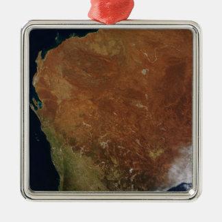 Satellit- beskåda av westerna Australien Julgransprydnad Metall