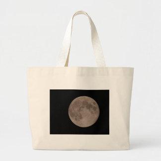 Satellit- lunar månsken för måne jumbo tygkasse