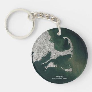 Satellit- udd och öar beskådar