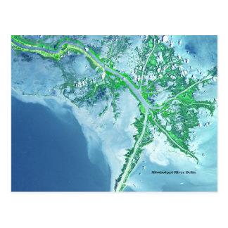 Satellit- vykort för Mississippi River delta