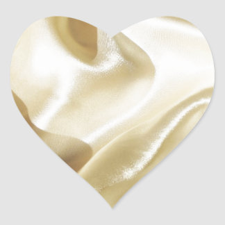 Satil silke, tyg, rik som är älskvärd, sken som är hjärtformat klistermärke