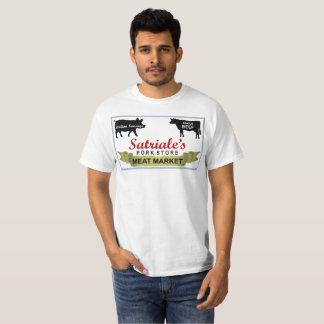 Satriales kött marknadsför den reviderade skjortan t-shirts