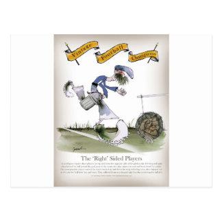 sats för fotbollright wingblått vykort