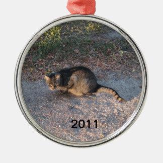Sätt ditt husdjur på träd med en prydnad julgransprydnad metall