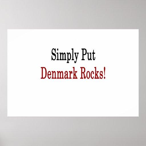 Sätt enkelt Danmark stenar Posters