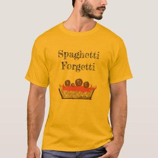 Sätt förflutnan i pastaskjortan t shirts