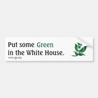Sätt någon grönt i Vita huset v2 Bildekal