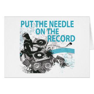 Sätt nålen på rekordDJ-snurret Hälsningskort