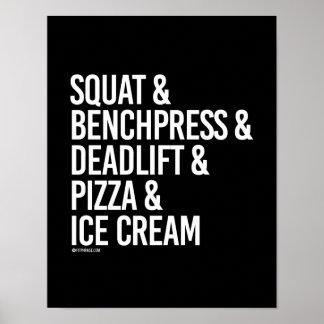 Satt och Benchpress och Deadlift och Pizza -- Poster