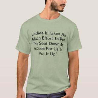 Sätt upp placera t-shirt